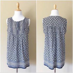 Max Studio | Long flowy tank blouse w/ tassels